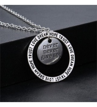 86396e79b Available. Never Never Give Up Pendant Necklace - Inspirational Jewelry - Personalized  Jewelry Gift for Women ...