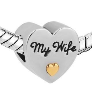 LovelyJewelry Heart Charm Charms Bracelet