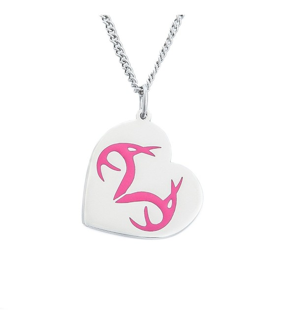 Realtree Ladies Antler & Heart Pink Pendant Necklace- Licensed and Authentic - CK12089LHQZ