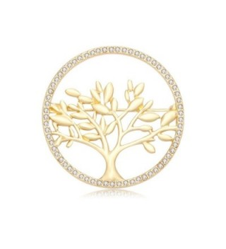 CHUANGYUN Gold Plated Life Tree Delicate Safety Broohes Pins Corsages Unisex Women&Men - C41832N9UML