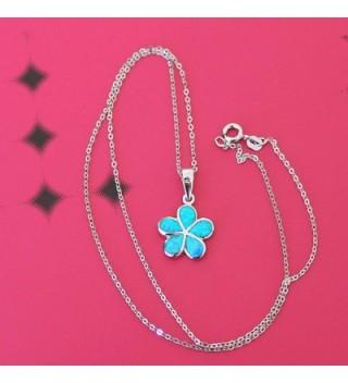 Sterling Simulated Hawaiian Necklace Earrings in Women's Jewelry Sets