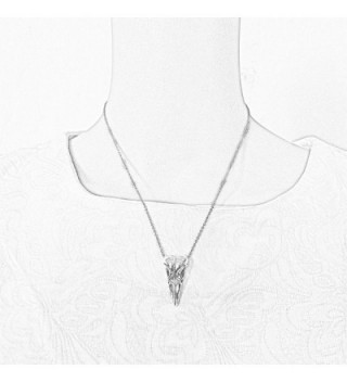 JJG Vintage Antiqued Necklace Stainless in Women's Pendants
