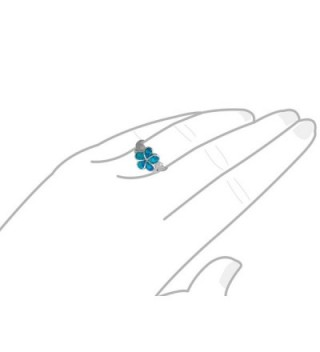 Sterling Silver Synthetic Plumeria Maile in Women's Statement Rings