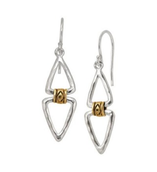 Silpada 'Double Up' Sterling Silver and Brass Drop Earrings - CE12NB6O92U