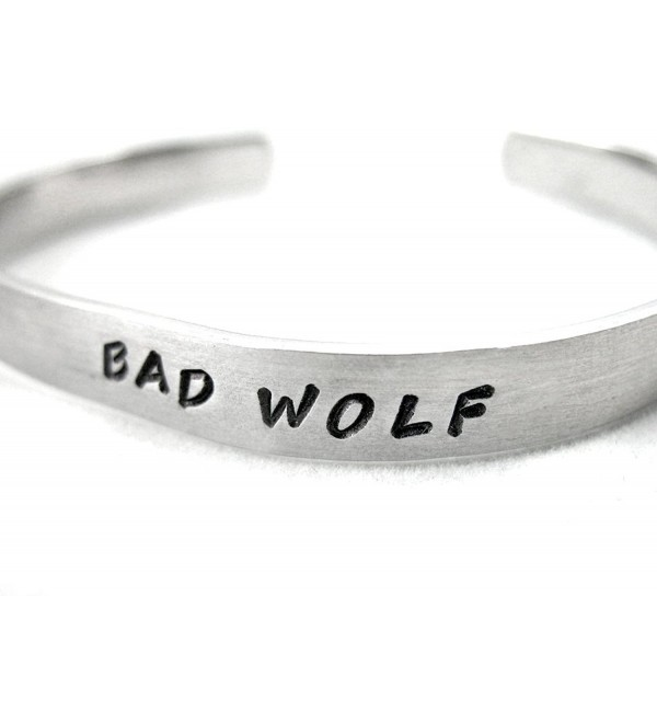 Bad Wolf Doctor Who Hand Stamped Bracelet - Made by Foxwise Jewelry - CV110MZXENP