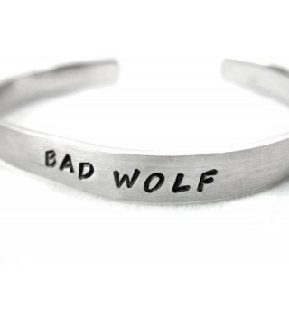 Wolf Doctor Hand Stamped Bracelet