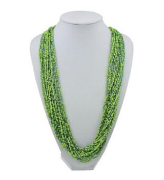 Multiple Handmade Statement Necklace NK 10235 greenery
