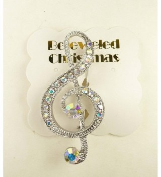 Bejeweled Christmas Silvertone Borealis 121 in Women's Brooches & Pins