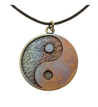 Yin Yang Symbol in Iridescent Finish on Adjustable Natural Fiber Cord - CY11CTFM1O9