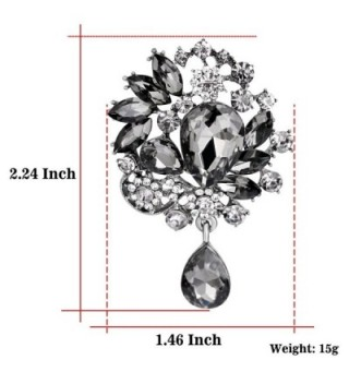 Rhinestone Covered Brooch Clothes Scarves