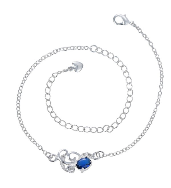 Stylish Anklet 925 Sterling Silver Vine Charms Anklet- Adjustable Ankle Bracelet Beach Barefoot Jewelry - CX185CMS5DM