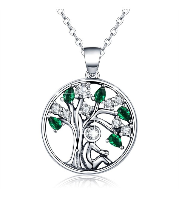 BAMOER Sterling Pendant Necklace Zirconia - Color 1 - CZ1802AO2SI