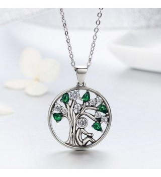 BAMOER Sterling Pendant Necklace Zirconia in Women's Chain Necklaces