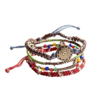 """Wakami Earth Bracelet- 6.5"""" Multi Color Classic 7 Strand wa0389 - C211GSRHDEH"""