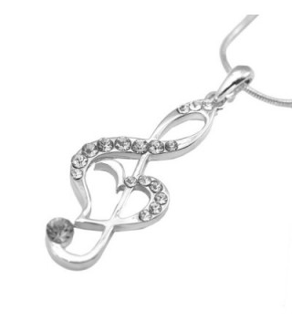 chelseachicNYC Perfect Crystal Treble Necklace in Women's Pendants