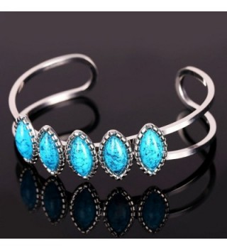 U7 Jewelry Platinum Turquoise Bracelet in Women's Cuff Bracelets