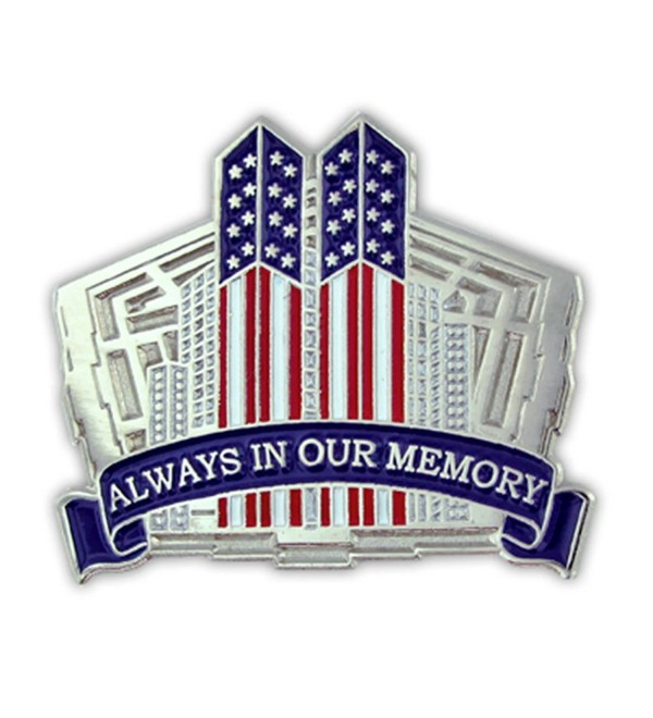 PinMart's 9/11 September 11th Always in our Memory Twin Towers Lapel Pin - CC11LBJAJWJ