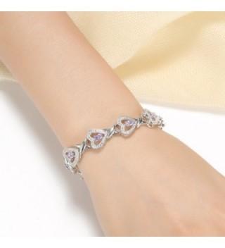 Foruiston Infinity Created Amethyst Bracelet