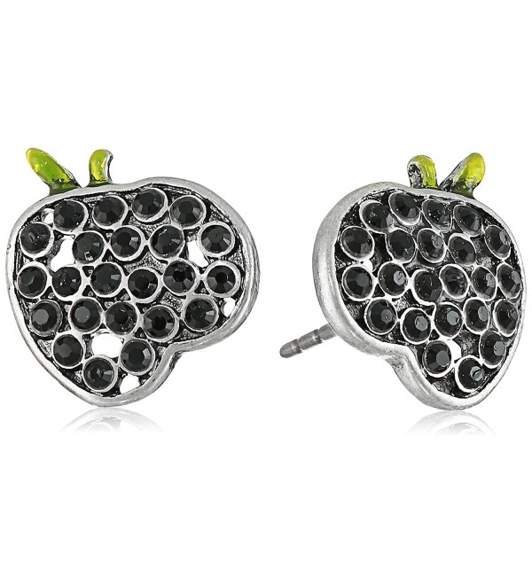 "Marc Jacobs ""Fall 2016"" Apple Stud Earrings - Jet/Antique Silver - CJ12JZ2IH1T"