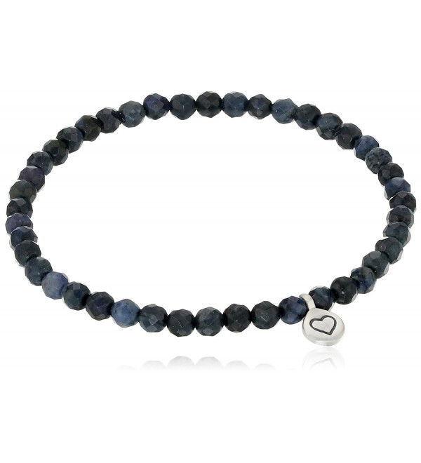 Satya Jewelry Dumortierite Heart Stretch Bracelet - C912DH1OA4L