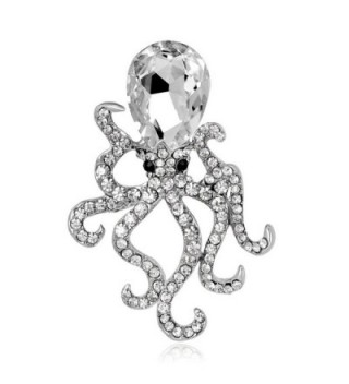CHUYUN Octopus Crystal Rhinestones Brooches Pin Up Jewelry For Women Suit Hats Clips Bijoux Brooch - C21880887DL