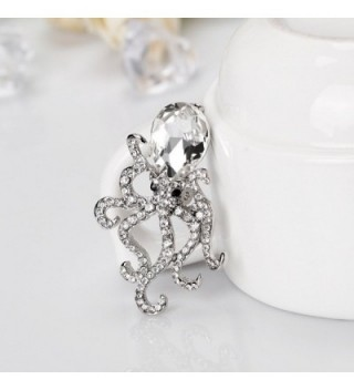 CHUYUN Octopus Crystal Rhinestones Brooches in Women's Brooches & Pins