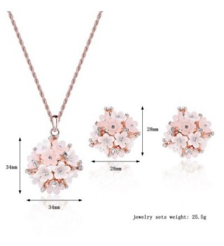 Pokich Gold Tone Earring Necklace Jewelry in Women's Jewelry Sets