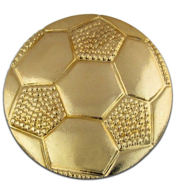Soccer Ball Gold Chenille Sports Lapel Pin - C7119PEKYZZ