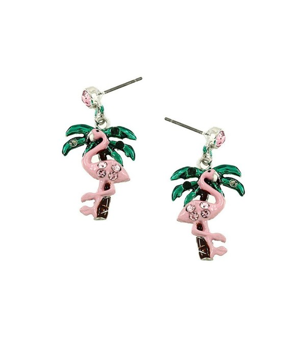 Liavys Pink Flamingo Fashionable Earrings - C917XWHDXT9