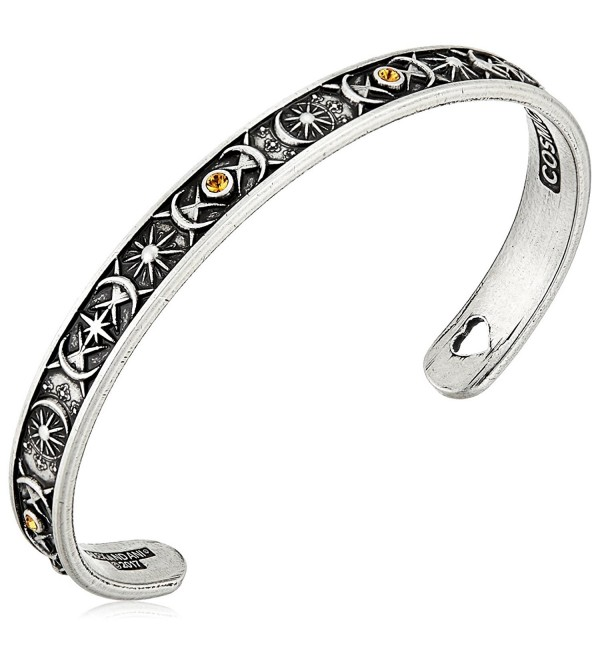 Alex and Ani Cosmic Balance Cuff Bangle Bracelet - Rafaelian Silver - CU12NT79URZ