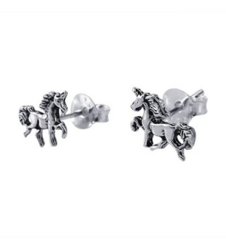 Petite Unicorn Sterling Silver Earrings
