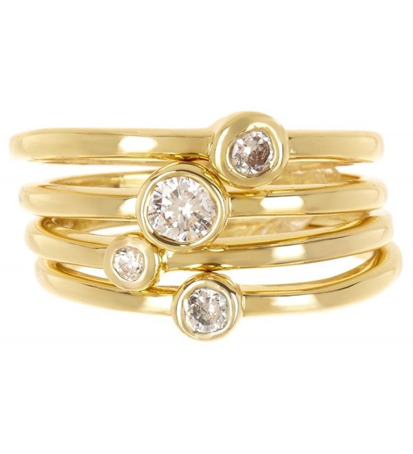 CZ Wholesale Gemstone Jewelry Stackable Ring Set - CE184X6LTZU