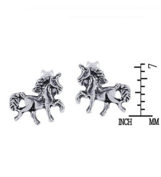 Petite Unicorn Sterling Silver Earrings in Women's Stud Earrings