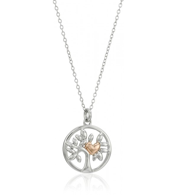"Hallmark Jewelry Sterling Silver Two-Tone Tree of Life Pendant Necklace- 18"" - CV12MAIWV4V"