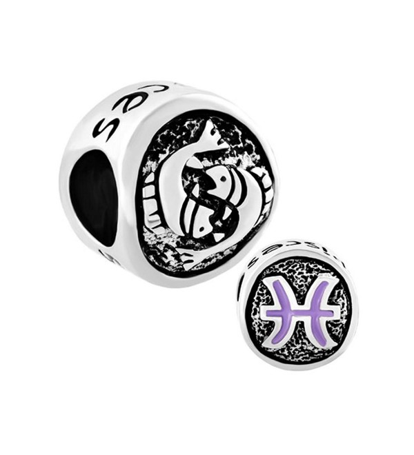CandyCharms Lucky 12 Horoscope Zodiac Sign Symbol Charm Beads For Bracelet - CS17YZ3SS82