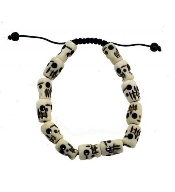 Tibetan Meditation Yak Bone Skull Bead Bracelet Buddhist Prayer Beads Wrist Mala - CQ11EPJ6KYJ