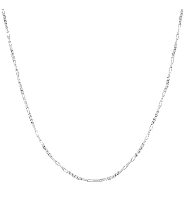 Sterling Silver High Polish 1mm Alternate Box Link Chain (16- 18- 20- 22- 24- 30- or 36 inch) - CQ11RTMSDX5