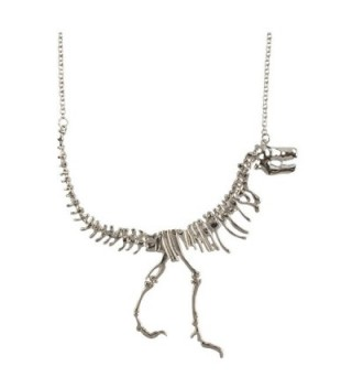 Jane Stone Dinosaur Vintage Necklace Short Collar Fashion Costume Jewelry for Women Teens - Silver - CJ11SLTXGSR