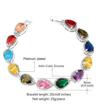 U7 Colorful Zirconia Bracelet Platinum in Women's Tennis Bracelets
