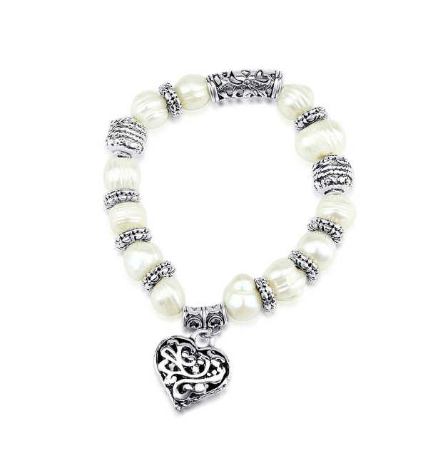 Spades Freshwater Cultured Pearl Stretch Bracelet 7.5 - CI11NSBYG3R