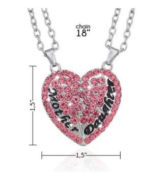 Split Pink Heart Pendant Necklace
