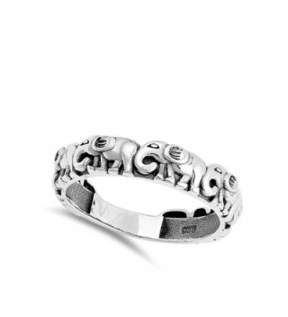 Elephant Animal Stackable Sterling Silver