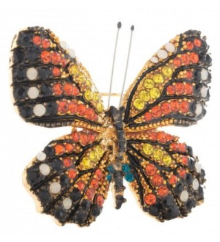 Monarch Butterfly Exquisite Crystal Accents in Women's Brooches & Pins