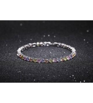OKAJEWELRY Stunning Zirconia Multicolored Bracelet