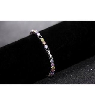 OKAJEWELRY Stunning Zirconia Multicolored Bracelet in Women's Tennis Bracelets