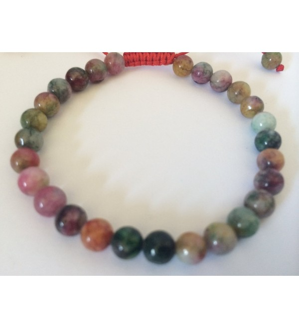 Tibetan Mala Small Blood Stone Wrist Mala/ Bracelet for Meditation 6mm - CP11K3QEUWR