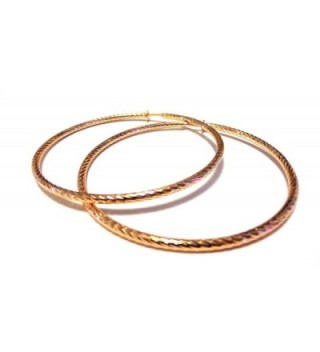 Clip on Earrings Hypoallergenic Hoop Earrings 2 Inch Rose Gold Plate Hoop Earrings - CZ12O0YLKCL