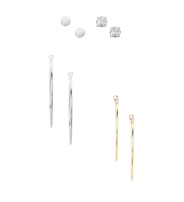 GUESS Factory Women's Hoop and Stud Earring Set- NS - Multi - C618344GY9E
