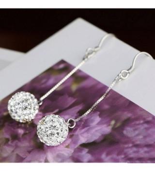 Jiayiqi Earrings Charming Silver Dangle in Women's Drop & Dangle Earrings