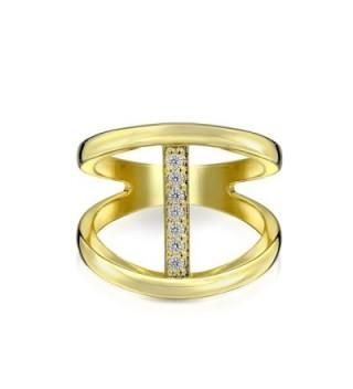 Bling Jewelry Silver Modern Double in Women's Band Rings